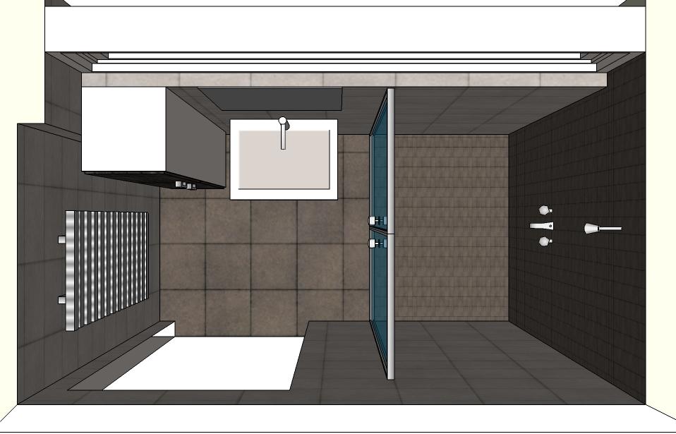 Inloopdouche bovenaanzicht ontwerp inspiratie voor uw badkamer meubels thuis - Kleine badkamer in lengte ...